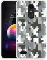 LG K30 Hoesje Pixel Camouflage Grey