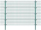 vidaXL Omheiningspaneel met palen groen ijzer 6x1,6 m