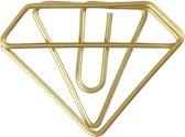 Creotime Clips Diamant Goud 35 X 25 Mm 6 Stuks