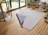 Design binnen & buiten vloerkleed Delilia - blauw/crème 160x230 cm