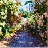 Outdoor Canvas Schilderij - Bloementuin - Bloemen