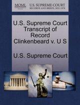U.S. Supreme Court Transcript of Record Clinkenbeard V. U S