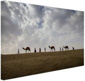 Woestijn India  Canvas 30x20 cm - klein - Foto print op Canvas schilderij (Wanddecoratie woonkamer / slaapkamer)