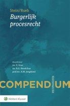 Boek cover Compendium Burgerlijk procesrecht van  (Paperback)
