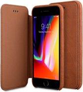 Melkco Elite Apple iPhone 7 / 8 Book Case Echt Leer Bruin