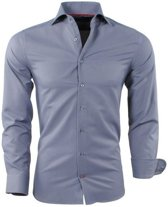 Montazinni - Heren Overhemd - Slim Fit - Grijs