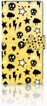 Samsung Galaxy Note 8 Uniek Boekhoesje Punk Yellow