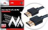 HDMI-kabel 4 mm Dun 1.4 3D FullHD SLIM 0,5 m