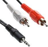 Kabel4U.nl Jack 3.5mm stereo naar RCA mannelijke audiokabel, lengte: 3m
