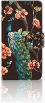 Samsung Galaxy S10 Book Case Design Pauw met Bloemen