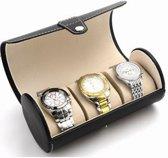 Luxe Heren en Dames Horloge  Cylinder met plaats voor 3 horloges