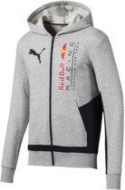 PUMA Red Bull Racing Logo Hooded Sweat Jacket Trui Heren - Light Gray Heather - Maat XL