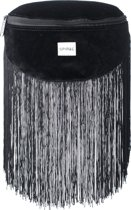 Spiral Platinum Heuptas - Velvet Tassels Black