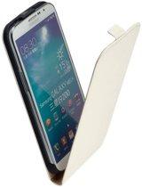 LELYCASE Premium Flip Case Lederen Cover Bescherm  Hoesje Samsung Galaxy Mega 6.3 i9200  Wit