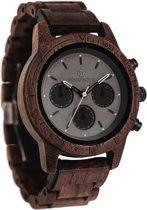 De officiële WoodWatch | Axinite Black | Houten horloge heren