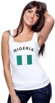 Witte dames tanktop met vlag van Nigeria S