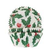 House of Marie Cupcake vormpjes - Kerst Hulst - 50 stuks