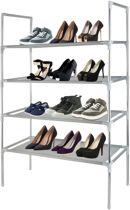Schoenenrek voor 12 paar | stevig metaal | 4 etages