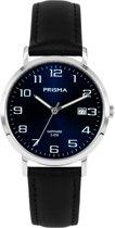 Prisma P1741 - Horloge - Leer - Zwart - 37 mm