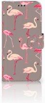 Samsung Galaxy J5 2017 Uniek Boekhoesje Flamingo
