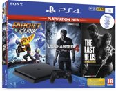 Afbeelding van Sony PlayStation 4 Slim Console - incl. Ratchet and Clank & The Last of Us Remastered & Uncharted 4 - 1 TB