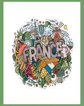 Journal Notebook for All Things FRENCH: French class? Trip to France? Cute blank lined notebook to keep it all organized!