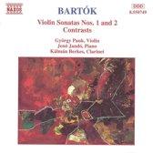 Bartok: Violin Sonatas 1 & 2, Contrasts / Pauk, Jando