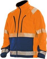 Jobman 1243 Soft Shell Jacket L.3 Kl.3 Oranje/Marineblauw maat XL