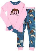 Kinderpyjama LazyOne Pasture Bedtime roze met bedrukte broek - 98