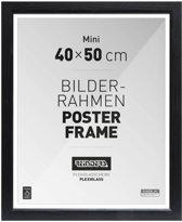 Wissellijst voor Posters 40x50 cm | zwart | hout | romantisch - fotolijst, fotokader, posterlijst, posterframe, passe partout, wanddecoratie, muurdecoratie