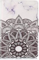 Mobigear Colored Drawing Pattern Wallet Case Mandala Samsung Galaxy Tab S4 10.5