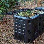 Nature - Compostbak -  PP - Zwart - Eenvoudig te Monteren - 1200L