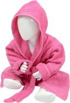 ARTG Babiezz® Baby Badjas met Capuchon Roze - Maat  80-92