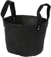 Fair Trade Original - Mand zeegras zwart nylon handles D33