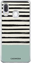 Samsung Galaxy A40 siliconen hoesje - Stripes on stripes