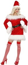 Fluwelen kerstpakje voor dames M