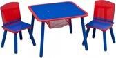 Delta Kids Tafel Met Stoelen Hout Rood/blauw