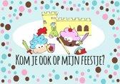 Ridder uitnodigingen - kinderfeestje - uitnodigingskaartjes Ridder - 8 stuks