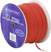 OMNITRONIC Microphone cable 2x0.22 100m rd