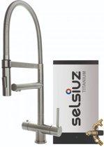 Selsiuz XL Inox (RVS) met TITANIUM Combi Extra (Combi+) boiler
