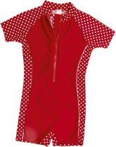 Playshoes UV zwempak Kinderen korte mouwen Dots - Rood - Maat 98/104