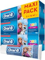 Oral-B Kids Frozen Tandpasta 3x75 ml, +3 jaar