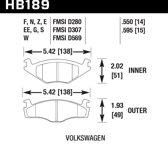 HB189F.595 - Hawk Performance HPS remblokken