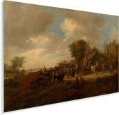 Dorpskermis - Schilderij van Jan Steen Plexiglas 160x120 cm - Foto print op Glas (Plexiglas wanddecoratie) XXL / Groot formaat!
