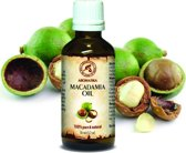 Macadamia olie 50 ml, 100% zuiver en natuurlijke basisolie, rijk aan mineralen & vitamines voor intensieve lichaamsverzorging / massage / wellness / cosmetica / ontspanning / aromatherapie / etherische olie / alternatieve geneeskunde van AROMATIKA
