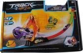 Lg-imports Track Racing Met Auto Paars 80 Cm