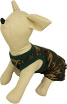 Camouflage jurkje groen voor de hond - XS ( rug lengte 20 cm, borst omvang 28 cm, nek omvang 22 cm )
