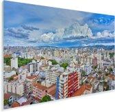 Skyline van de tropische kleuren in het Braziliaanse Porto Alegre Plexiglas 180x120 cm - Foto print op Glas (Plexiglas wanddecoratie) XXL / Groot formaat!