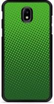 Galaxy J5 2017 Hardcase Hoesje groene cirkels