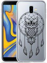 Galaxy J6 Plus Hoesje Dream Owl Mandala Black